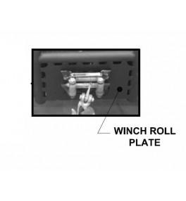 Winch roller skid plate