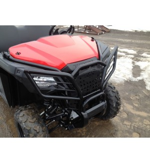 Side view of Hunter Series Front Bumper Brush Guard.