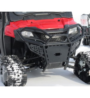 Close up of Honda Pioneer Hunter Series Front Bumper Brush Guard