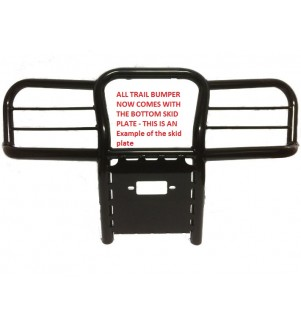 This model of Trail Series Front Bumper Brush Guard now comes with a skid plate