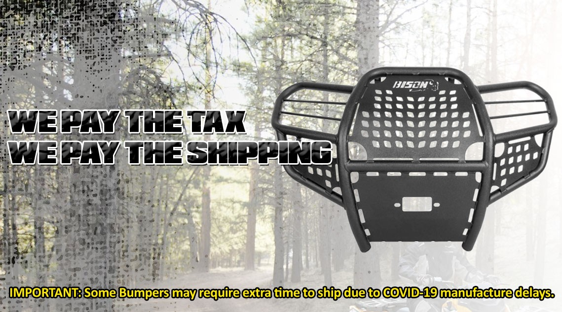 Quad Armor Brush Guards Bumpers for most makes and models ATV and UTV.